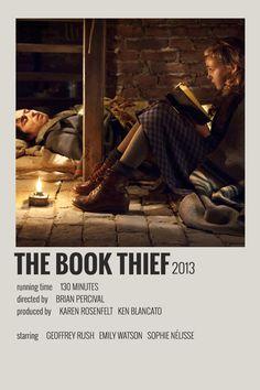 Alternative Minimalist Movie/Show Polaroid Poster - The Book Thief - Iconic Movie Posters, Minimal Movie Posters, Iconic Movies, Minimal Poster, Film Poster Design, The Book Thief, Good Movies To Watch, Movie Prints, Movie Covers
