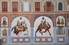 Murals on the outer walls of the Podar Haveli | Flickr: partage de photos!