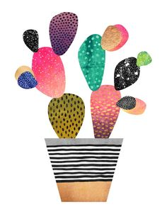 Happy Cactus, an art print by Elisabeth Fredriksson - INPRNT