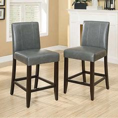 vincent 26 gray fabric ivory bonded leather counter stool counter