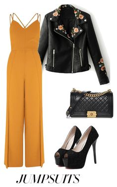 """""""Sin título #37"""" by tabby170 ❤ liked on Polyvore featuring WithChic, River Island, Chanel and jumpsuits"""