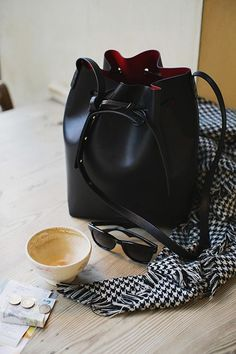 Mansur Gavriel Bucket Bag with Flamma interior wanttttttttttt http://autumnfever.tumblr.com/post/69730378477