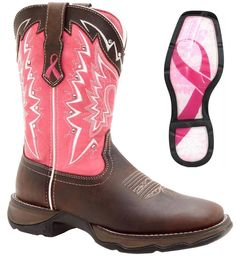 NEW Durango Women's Ladies Full Grain Leather Western Cowboy Boots Pink RD3557