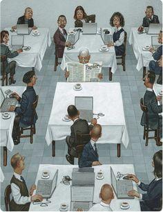 #Laptop vs. #Newspaper