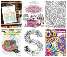 Coloring pages for adults and coloring books