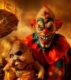 Horror-Scary Clown-Evil Carnival Clown