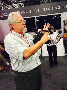 Getting up close and personal with Bruce Dorn - Canon Explorer of Light. Today Bruce showed how Canon has a new auto focus system that helps cinematographers nail focus.