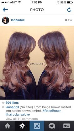 Rose brown hair by larisa love