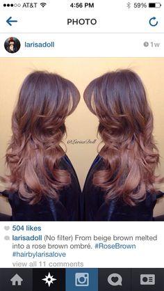 Rose brown hair by larisa love
