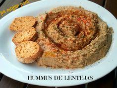 Hummus de lentejas                                                                                                                                                                                 Más Veggie Recipes Healthy, Clean Recipes, Vegetarian Recipes, Snack Recipes, Cooking Recipes, Lentil Hummus, Healthy Afternoon Snacks, Vegan Foods, Dairy Free Recipes