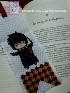 Marca Libros Harry Potter Punto de Cruz