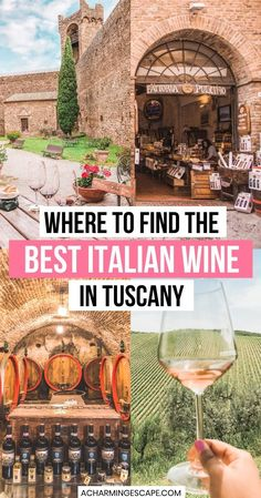 Where to Find the Best Italian Wine in Tuscany! This is my Tuscany Wine Tasting Guide. When in Tuscany, you have to try the wines. Enjoy touring the wineries in this beautiful Italian regions and sample some of the best wines in the county. Tuscany Italy, Italy Italy, Italy Spain, Sorrento Italy, Capri Italy, Naples Italy, Italy Travel Tips, Europe Travel Guide, Traveling Europe