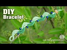 ▶ Wavy Macramé Leaf & Blueberry Bracelet Tutorial - YouTube