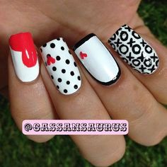 valentine nails | See more at http://www.nailsss.com/... | See more nail designs at http://www.nailsss.com/nail-styles-2014/