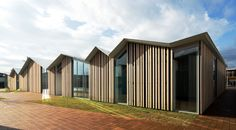 Photo © Kenta Hasegawa This wooden building was constructed as the city's community center for people to gather. Photo © Kenta Hasegawa We repeated the roo