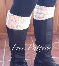 Free+Knitting+Pattern+-+Legwarmers:+2-Needle+Boot+Toppers/Cuffs