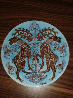 18 cm plate.Hand painted and designed by Meral Çetin.