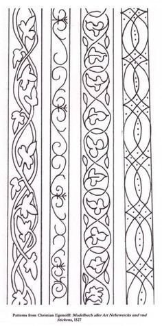medieval embroidery pattern - Google Search