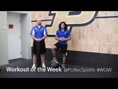 Purdue Rec Sports Workout of the Week with certified personal trainers, Matt & Kevin: Vipr Tube Curl and Press, Wall Ball, and Alternating Ball Slam. #WOW #WorkoutOfTheWeek #Purdue #PURecSports #MoveMoreAchieveMore