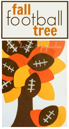 Fall Football Tree Craft is a great activity for kids for fall and football season. (autumn activities for kids simple) Daycare Crafts, Classroom Crafts, Toddler Crafts, Holiday Classrooms, Toddler Art, Classroom Fun, Classroom Organization, Football Crafts, Fall Football