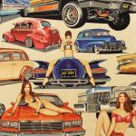 Alexander Henry  Low and Slow  Pinups on Hot Rods by TheCraftyTree, $10.50