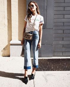 The Jean and Shoe Combos That'll Land You an A+ in Street Style- POPSUGAR Fashion