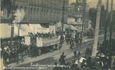 The Conservative Demonstration, from the Oshawa Community Archives Collection Wilfrid Laurier, National Issues, Wish You Are Here, Vintage Postcards, Paris Skyline, Archive, Museum, Community, Durham