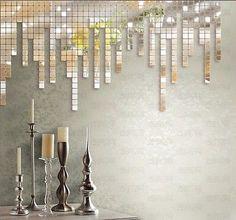 10Stk Mosaik Spiegel 3D Wandtattoo DIY Wandsticker Puzzle Hintergrund Haus  Deko
