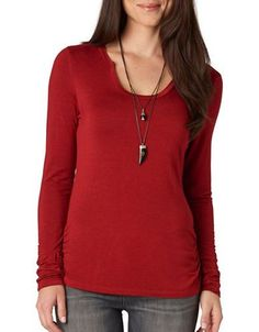 Democracy Ruched Tee Women's Copper X-Small