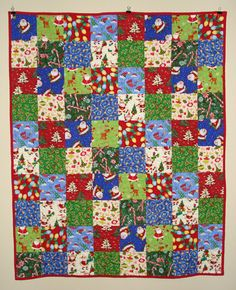 Christmas Quilt  for Baby Toddler Child  Here Comes by charmpacks, $85.00