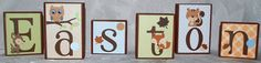 Personalized Baby Name Block Letters  Forest by auntjjsattic, $7.00