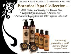Youngevity Products Non-GMO Plant Derived Vitamins and Minerals: 100% Ethical and Cruelty Free Botanical Spa Collection by Youngevity http://tedandlorri.my90forlife.com/mineralmakeup