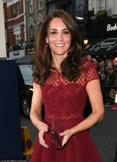 Catherine Duchess of Cambridge attends Broadway musical in Londons West End. April 4 2017