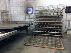 Steel spring cages are the most valuable component of a mattress or boxspring. As part of the recycling process, they are stripped from their wooden frames and crushed into compact metal bricks.