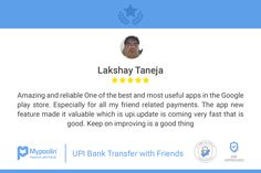 Thanks for your review Lakshay. We are glad you liked our app! Keep sharing with friends. Let us make your daily payments fun and extremely simple :)