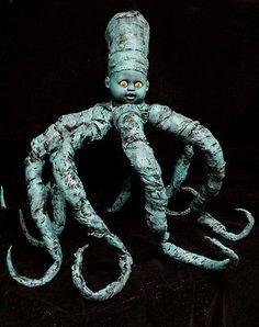 Zombie Baby Monster Octopus Doll Horror Halloween Haunted House Horror Prop