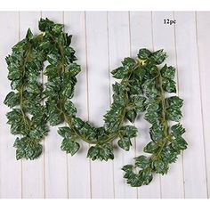 Artificial Plans 2.20 m Ivy Leaf Garland Plants Vine Fake Foliage Flower For Office Livingroom Bedroom Decorration in the House 12 Pcs (Scindapsus Leaves) ** Find out more about the great product at the image link.