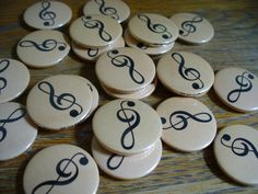 Treble clef music badges going out to a music teacher. Love these. only 75p each