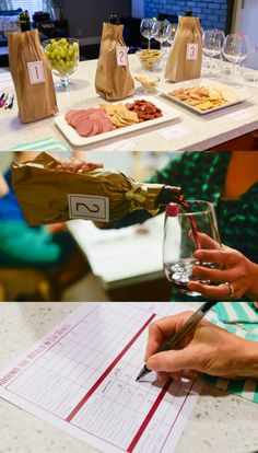 How to Throw a Wine Tasting Party with World Market. Includes wines, pairings, printables, and how-tos via Let's Eat Grandpa >> #WorldMarket Cheers #WineTasting #WinePairings