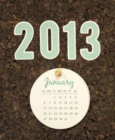 2013 calendar DIY made with a Silhouette machine  #silhouette, #scrappin, #scrapbook