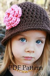 "Ravelry: ""Julia"" Crochet Hat Pattern for Little Girls pattern by Christine Longe"