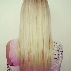 Straightened Blonde Hair - Hairstyles and Beauty Tips