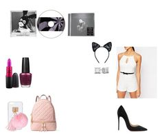 """""""The Way - Ariana Grande"""" by muffy10803 ❤ liked on Polyvore featuring Lipsy, Christian Louboutin, MAC Cosmetics, OPI, MICHAEL Michael Kors, Ashlyn'd, claire's and Maison Close"""