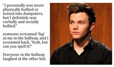 The best Chris Colfer quote