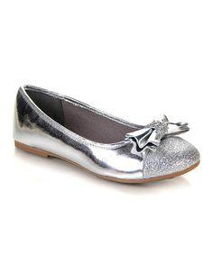 Look at this #zulilyfind! Silver Jaha Flat by Jelly Beans #zulilyfinds