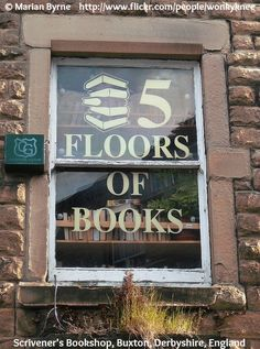 5 FLOORS OF BOOKS! © Marian BYRNE, photographer. Scrivener's Bookshop, Buxton, Derbyshire, ENGLAND.  [This caption required by copyright law. Do not remove.] see http://pinterest.com/pin/86975836525822393/   If you already have this pin, it only takes a second to edit the Description & Link by cut & paste. Give credit where due. Promote the arts & artists.