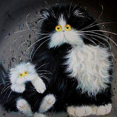 Забавные коты и кошки от Ким Хаскинс (20 картин)