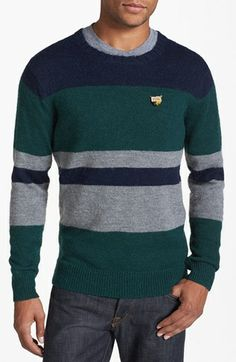 Scotch & Soda Stripe Color Block Crewneck Sweater available at - Everything About Knitting Gents Sweater, Crewneck Sweater, Pullover, Mens Winter Sweaters, Mens Fashion Sweaters, Polo T Shirts, Scotch Soda, Textiles, Boy Outfits