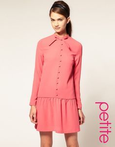 ASOS PETITE Drop Waist Dress With Bow Profile Photo
