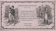 TARJETA PARA CORTEJAR. Por: Condesa Mont... .... Hacia el siglo XIX, los caballeros usaban este tipo de tarjetas y las hacían llegar a las jóvenes señoritas para cortejarlas. Algunas tarjetas eran sencillas, solo dando una cita para conocerse, pero otras tenían frases mas seductoras, las cuales se entregaban en forma mas confidencial. Aquí un ejemplo de estas tarjetas usadas antes del año de 1900
